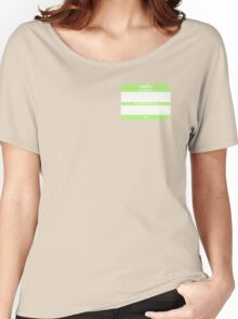Hello, My PRONOUNS Are (Agender Chartreuse) Women's Relaxed Fit T-Shirt