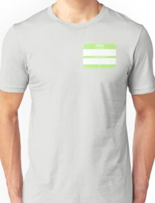 Hello, My PRONOUNS Are (Agender Chartreuse) Unisex T-Shirt