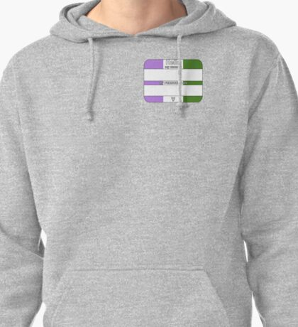 Hello, My PRONOUNS Are (Genderqueer Pride Edition) Pullover Hoodie