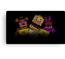Five Nights At Freddy's - Minecraft Canvas Print