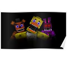 Five Nights At Freddy's - Minecraft Poster