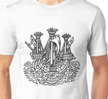 Stylised ship Unisex T-Shirt