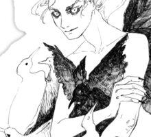 Bird witch. Sticker