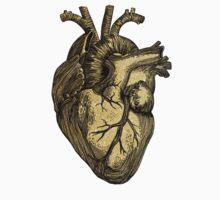 Glittering anatomical heart  One Piece - Short Sleeve
