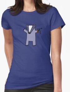 I Like You Like A Badger Likes Cap Guns Womens Fitted T-Shirt