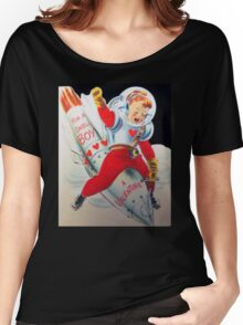 Vintage Valentine Rocket Penis  Women's Relaxed Fit T-Shirt