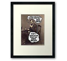 Coco Bread: Presidential Deal Sealer Framed Print