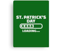 St. Patrick's day loading Canvas Print