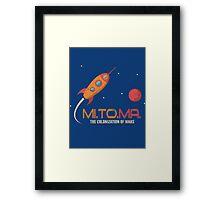 Vintage Rocket - Mission to Mars Framed Print