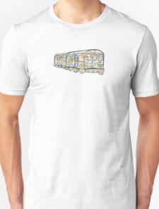 NYC Subway Map on a NYC subway car T-Shirt