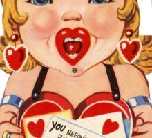 Vintage Valentine love doll Sticker