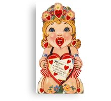 Vintage Valentine love doll Canvas Print