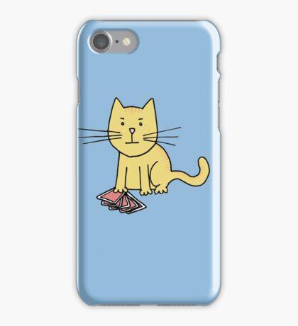Kitten Loves Poker iPhone Case/Skin