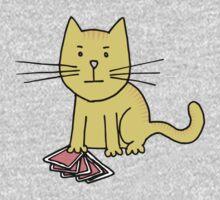 Kitten Loves Poker One Piece - Short Sleeve