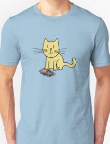 Kitten Loves Poker Unisex T-Shirt