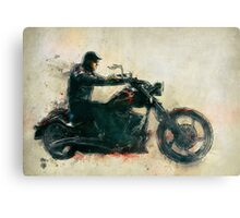 Motorcycle Rider  Canvas Print