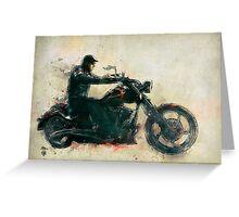 Motorcycle Rider  Greeting Card