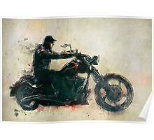 Motorcycle Rider  Poster