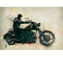 Motorcycle Rider  Photographic Print