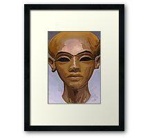 'Heretic King' - Watercolor Akhenaton Bust Framed Print