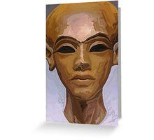 'Heretic King' - Watercolor Akhenaton Bust Greeting Card