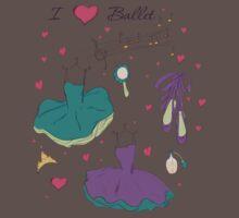 I love ballet One Piece - Short Sleeve