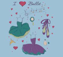 I love ballet Kids Tee