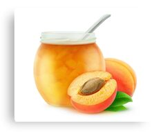 Apricot jam and fresh apricots Canvas Print