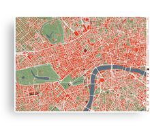 London city map Canvas Print