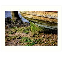 Mucky bottomed Boat Art Print