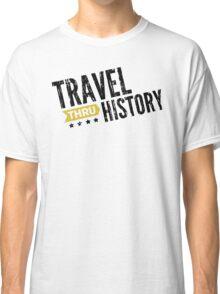 Travel Thru History Black Logo Classic T-Shirt