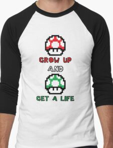 Super Mario Grow Up And Get A Life Men's Baseball ¾ T-Shirt