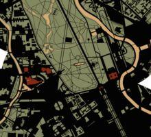 Berlin city engraving map Sticker