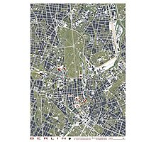 Berlin city engraving map Photographic Print