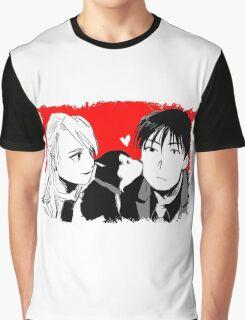 Roy Mustang and Riza Hawkeye FullMetal Alchemist Graphic T-Shirt