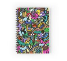 Colorful world Doodle  Spiral Notebook