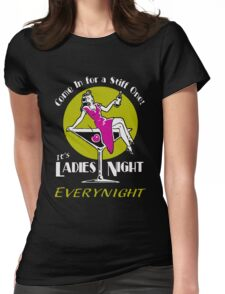 Ladies night retro Fifties party Womens Fitted T-Shirt