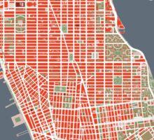 New York map classic Sticker