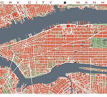 New York map classic by PlanosUrbanos