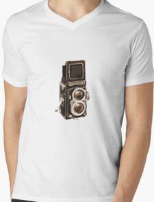 Old Rolli Camera Mens V-Neck T-Shirt