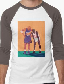Michael Jordan and Charles Barkley Men's Baseball ¾ T-Shirt