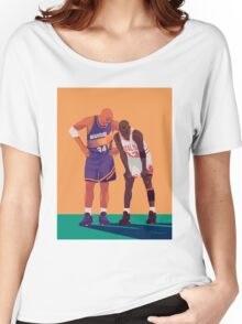 Michael Jordan and Charles Barkley Women's Relaxed Fit T-Shirt