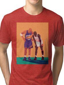 Michael Jordan and Charles Barkley Tri-blend T-Shirt