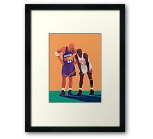 Michael Jordan and Charles Barkley Framed Print