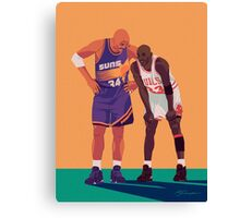 Michael Jordan and Charles Barkley Canvas Print