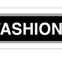Fashion Ave NYC Sign Sticker