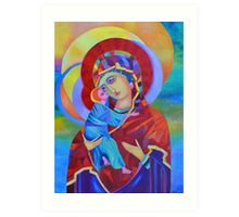 Virgin Mary with Child Jesus icon Art Print