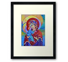 Virgin Mary with Child Jesus icon Framed Print