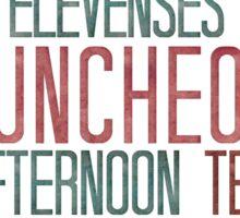 7 Hobbit Meals - Breakfast, Second Breakfast, Elevenses . . .  Sticker