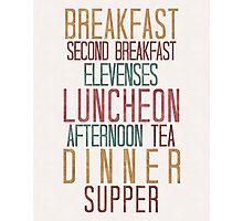 7 Hobbit Meals - Breakfast, Second Breakfast, Elevenses . . .  Photographic Print